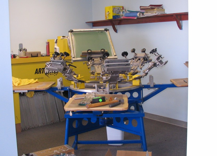 Complete screen printing shop equipment supplies tools for Parlour equipment