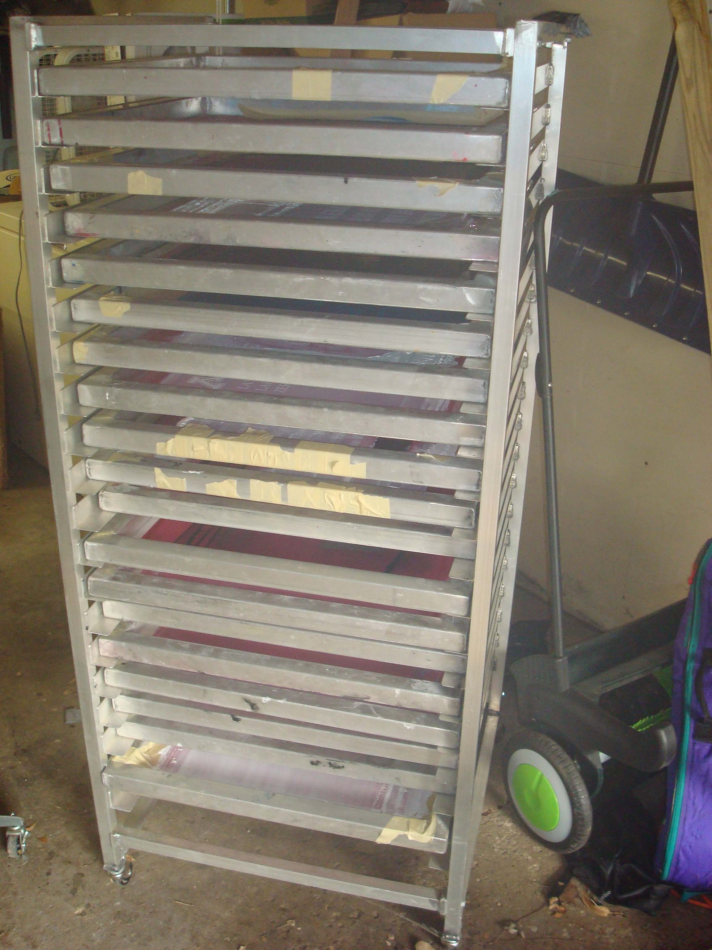 Screen Storage Racks : Small screen printing business for sale rh manual