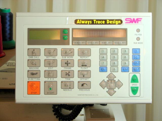 2003 Swf 1501 Embroidery Machine
