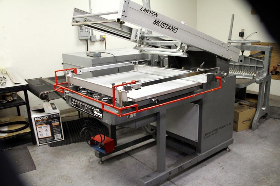 Lawson Mustang 1422 Flat Bed Press