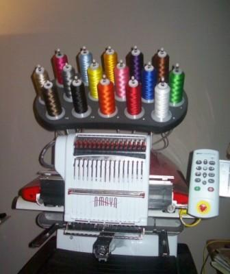 Melco AMAYA Used Embroidery Machine For Sale!