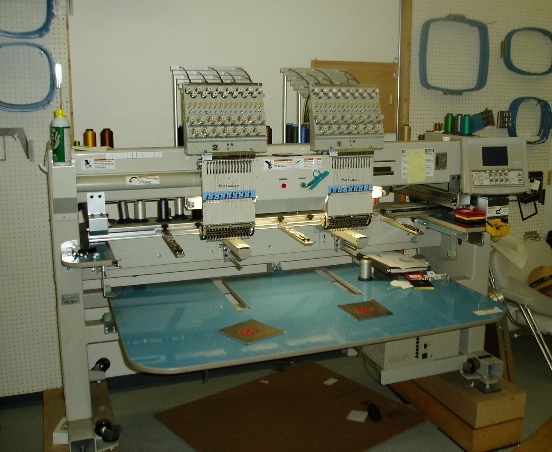 2001 Barudan 8 Head And 2 Head Embroidery Machines