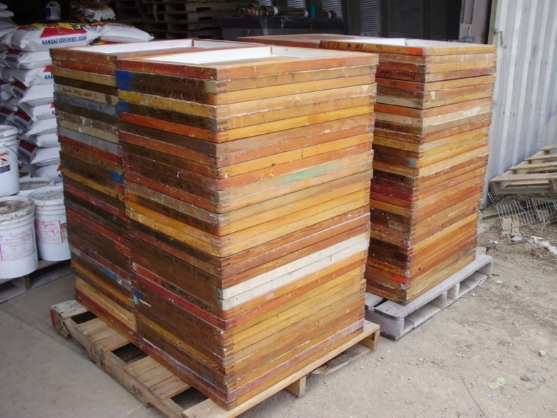 Used 23 Quot X 31 Quot Silk Screen Frames 200