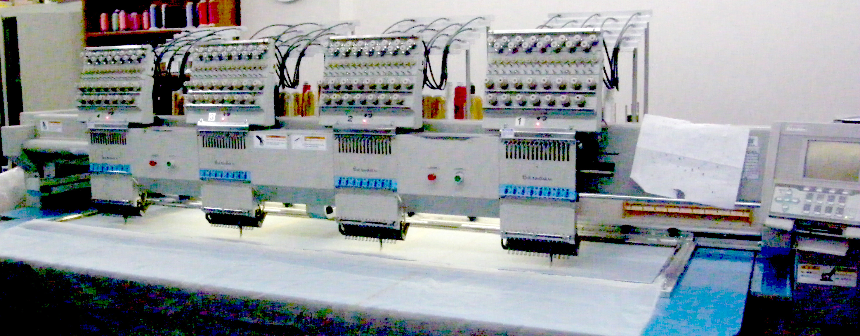 Barudan 4 Head Embroidery Machine for sale: BENYHE-ZQ-CO4U Year 2001