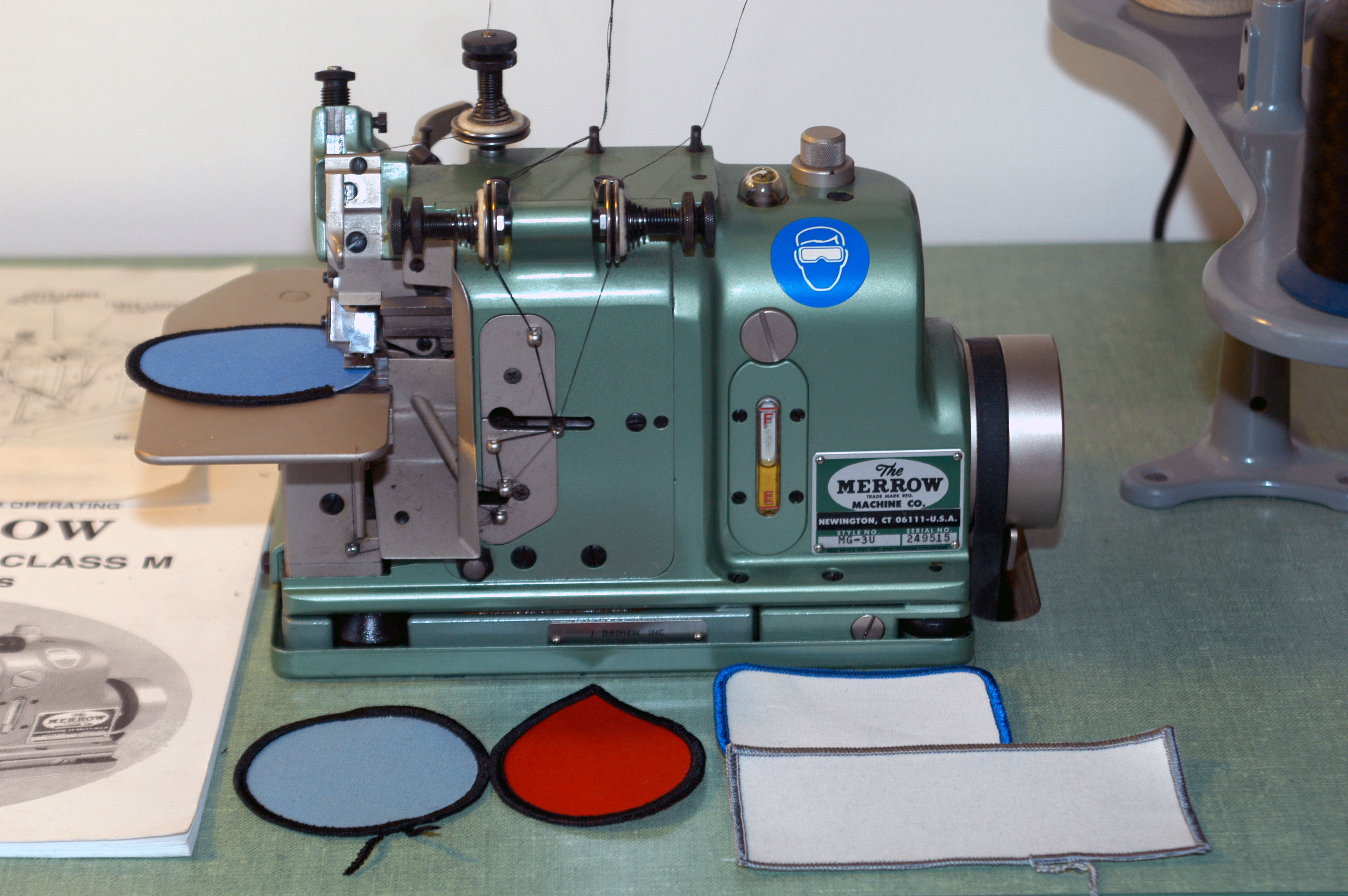 Used Embroidery Machines For Sale >> Used Merrow MG-3U + workstation for sale