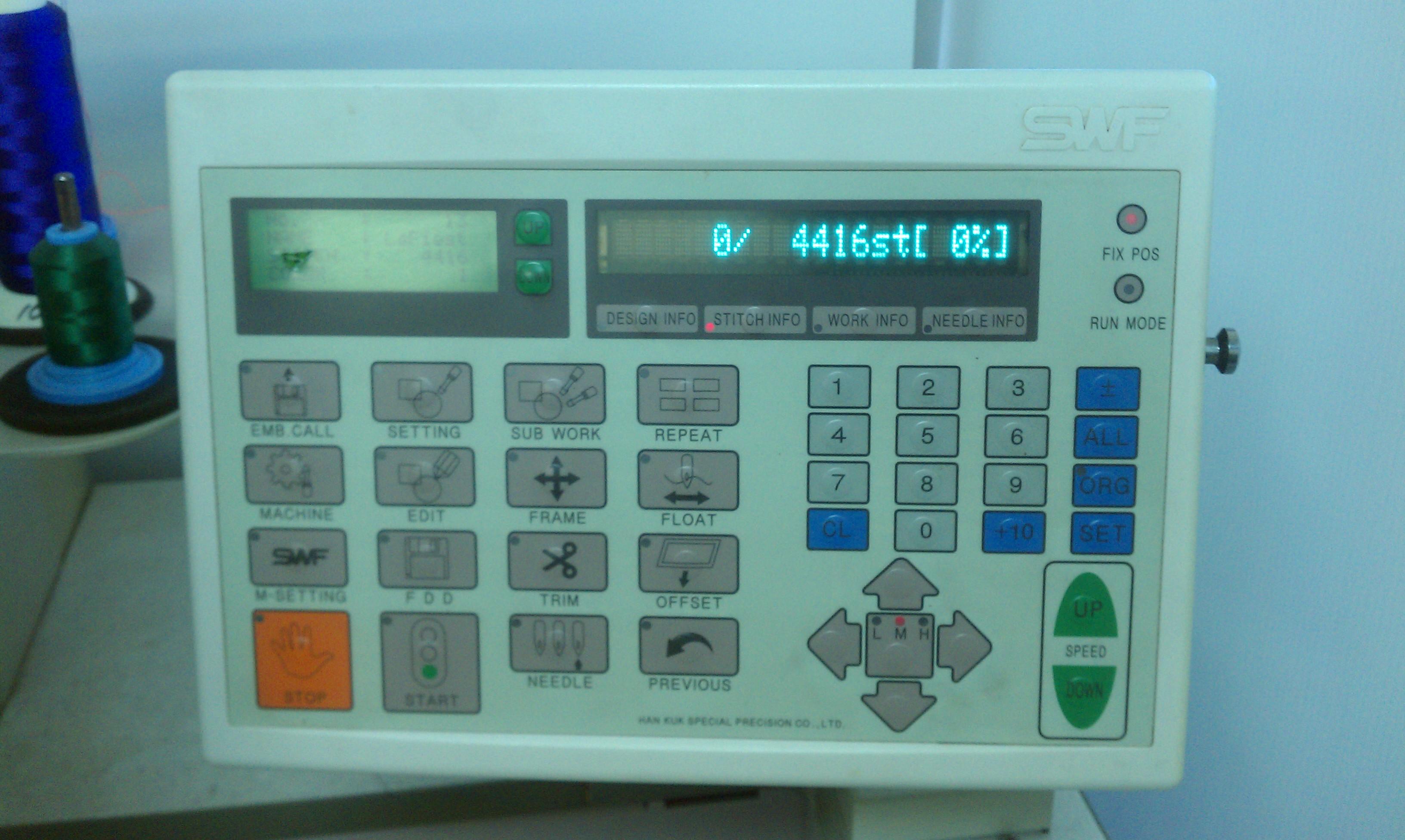 swf single head embroidery machine 12 needle extras 8500