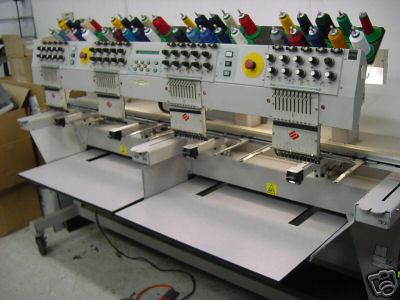 4 Sale Melco Emt 10 4t 4 Head Embroidery Mach