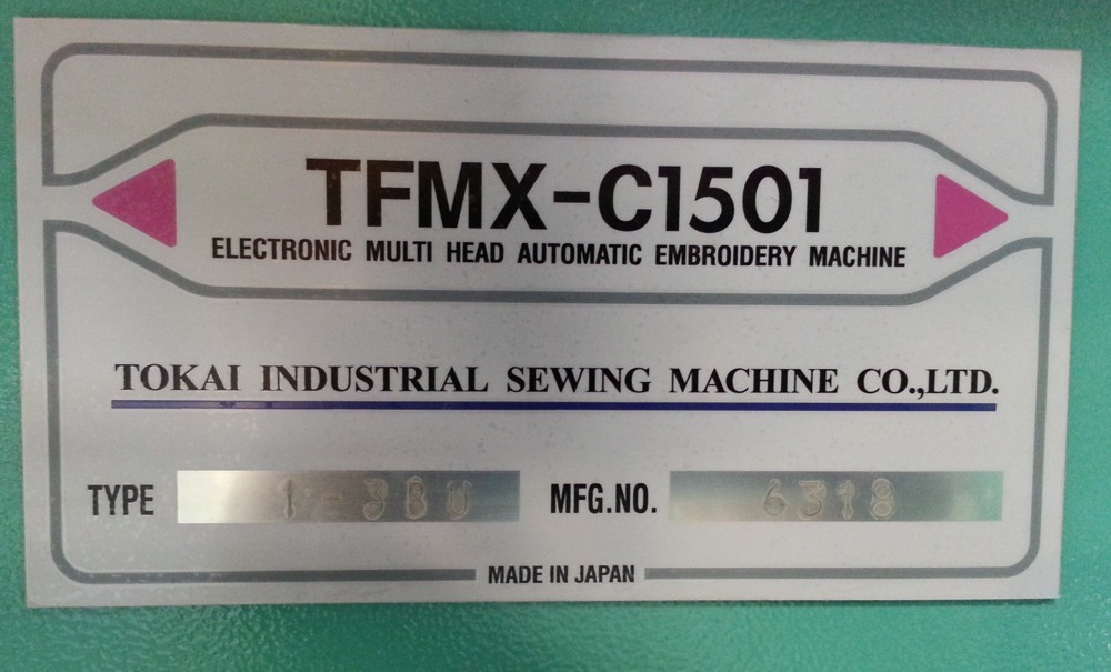 toyota 9100 embroidery machine for sale