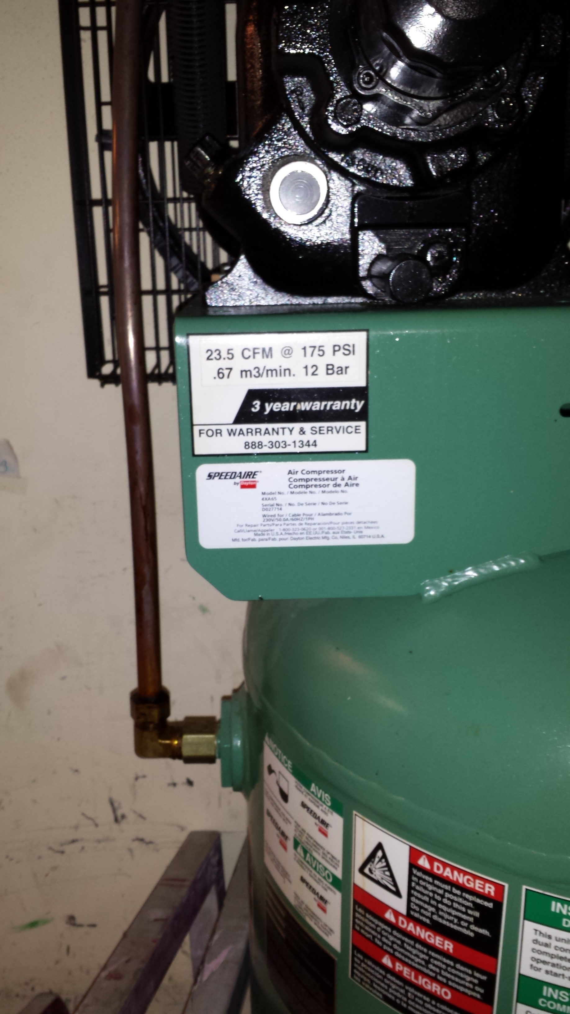 Nice Speedaire 7 1 2 Hp Compressor With Tank And Reefer Dryer