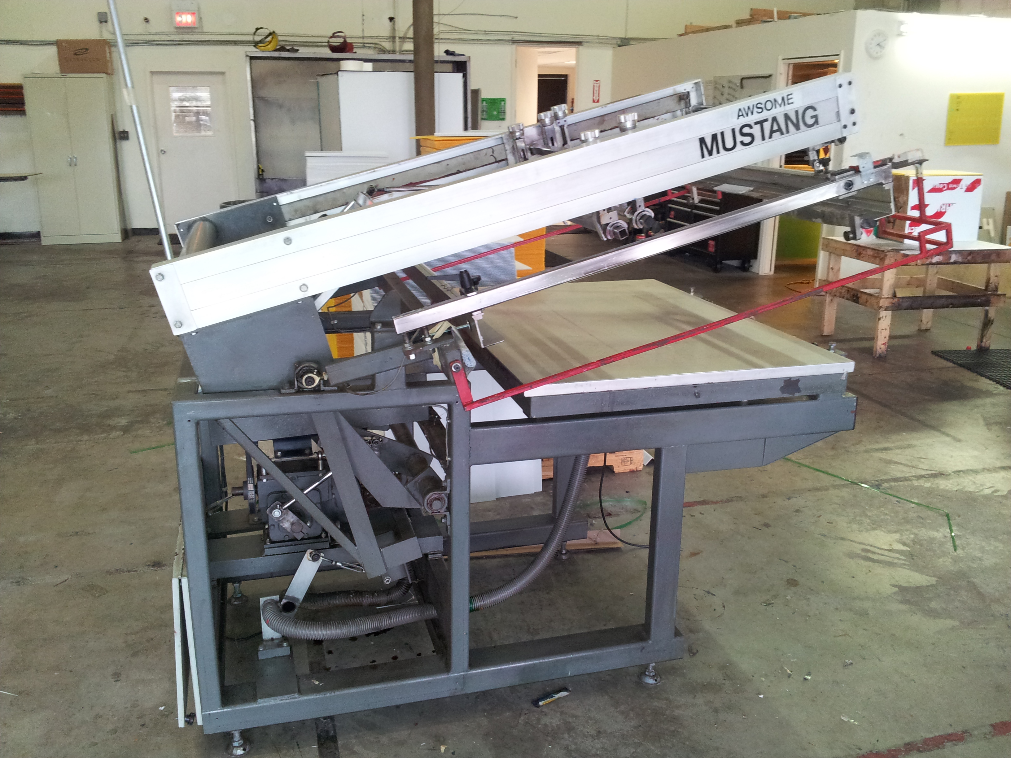 Screen Printing Press Lawson Mustang Flat Bed 25 Quot X38 Quot