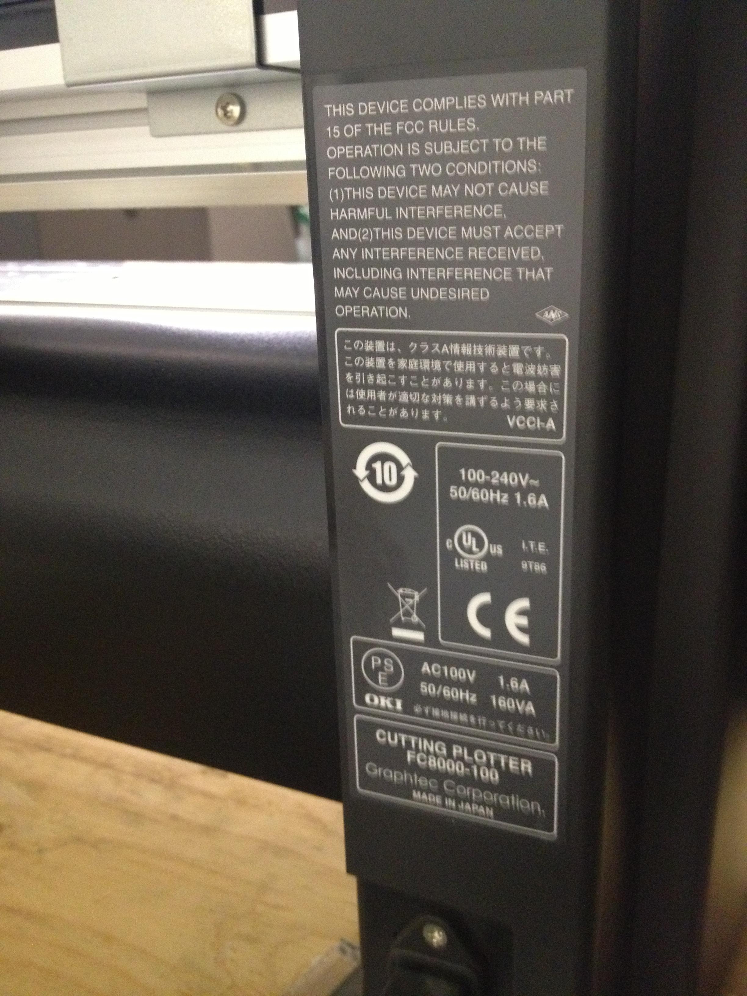 Graphtec Fc8000 100 42 Quot Vinyl Cutter