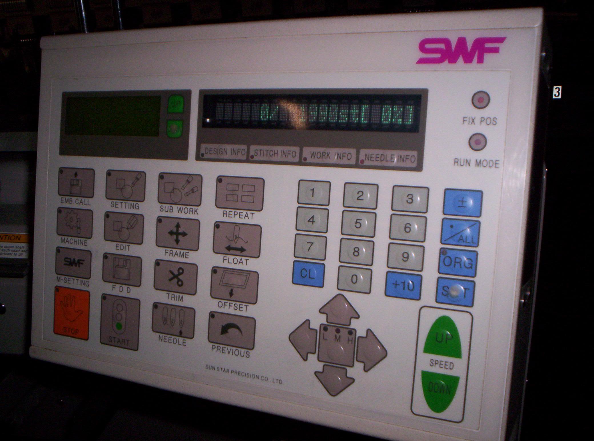 Swf B Uh1506c 45 6 Head Embroidery Machine