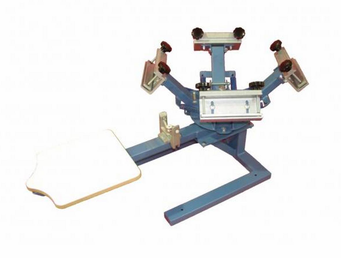 Color press printing - Hopkins Bwm 4 1 Screen Printing Press 4 Colors 1 Station Screen