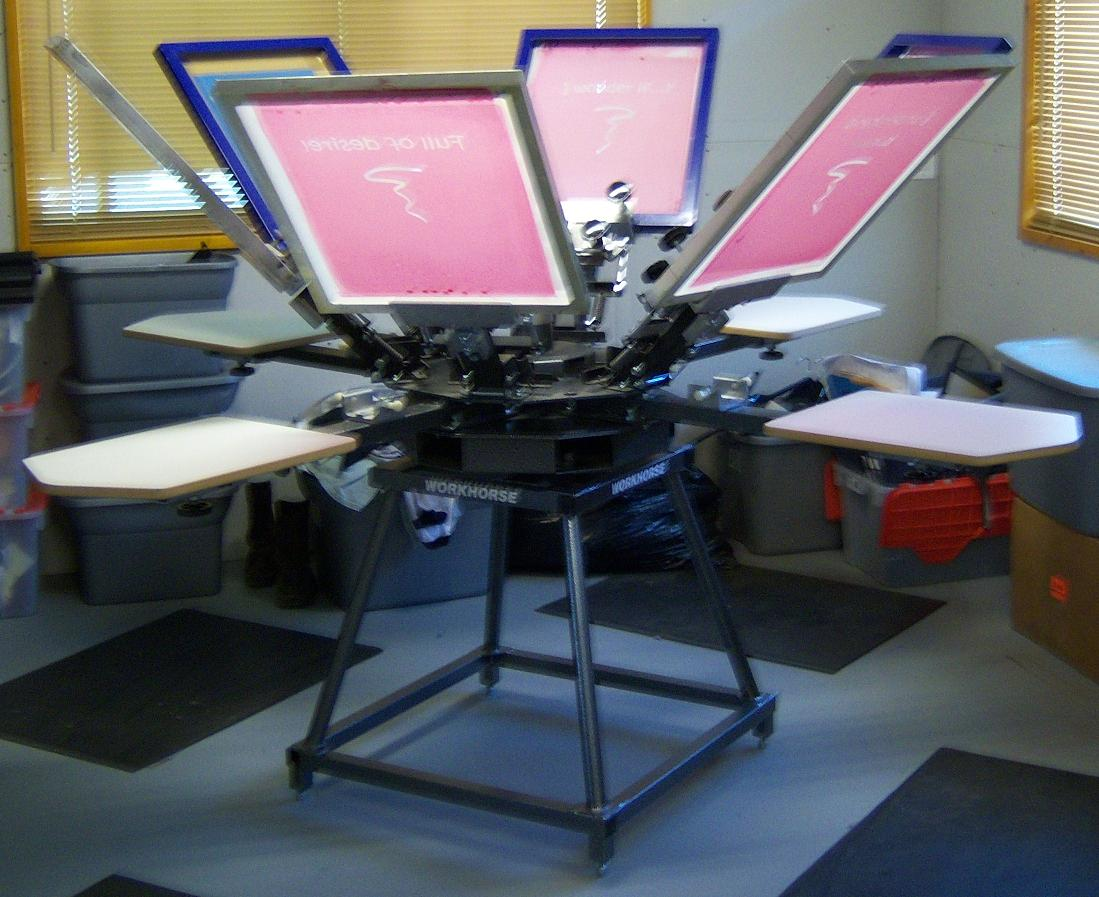 screen print shop equipment only