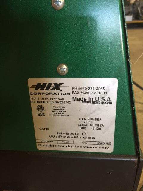 hix heat press machine