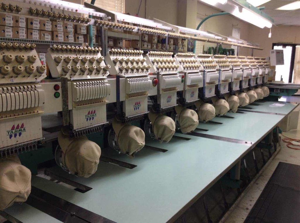 12 head 1998 tajima tmedc1212 embroidery machine