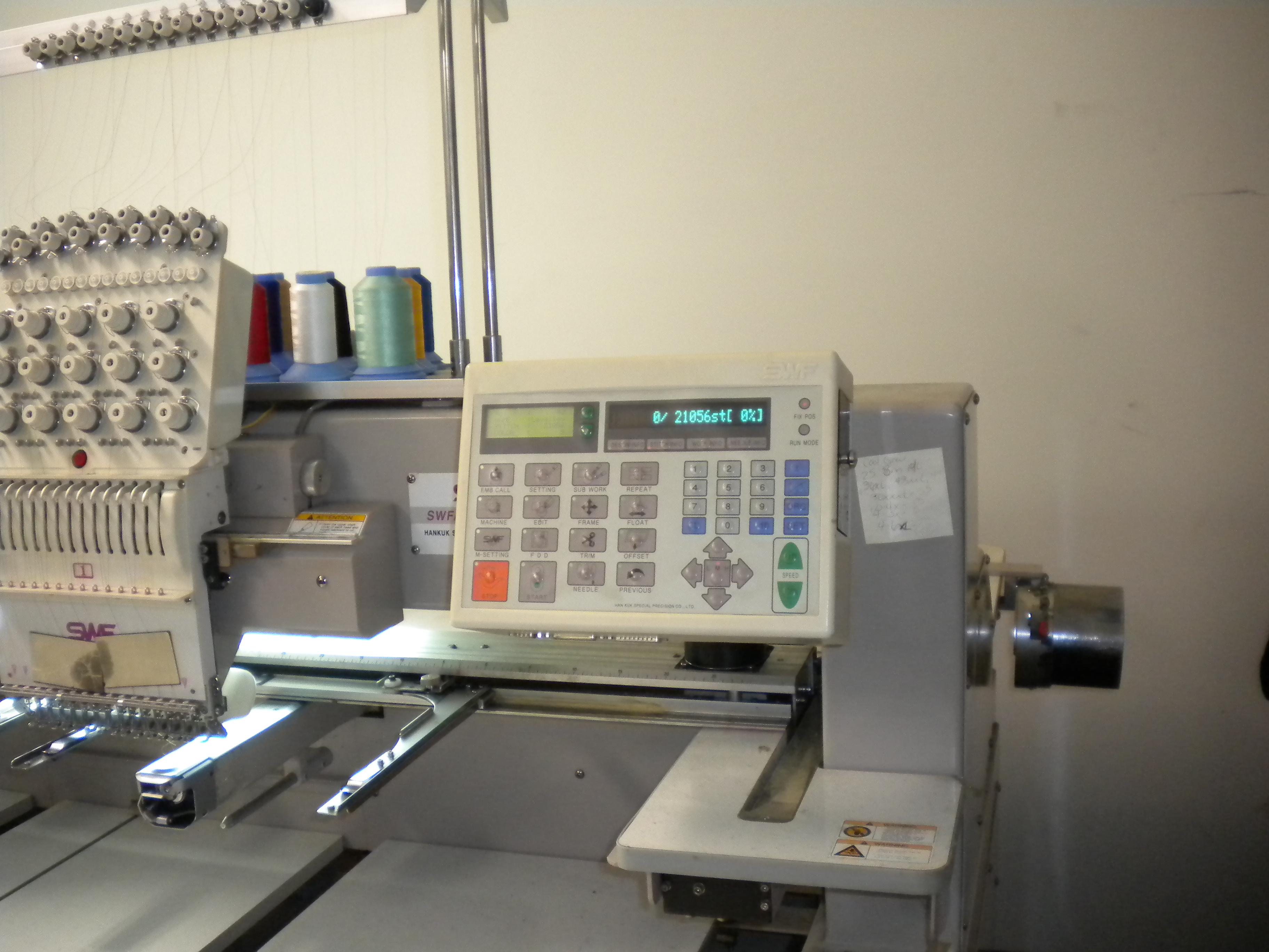 2001 Swf 6 Head 15 Needle Embroidery Machine
