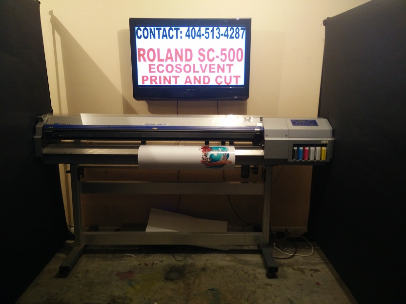 Roland Sc 500 Print And Cut Currently Printing
