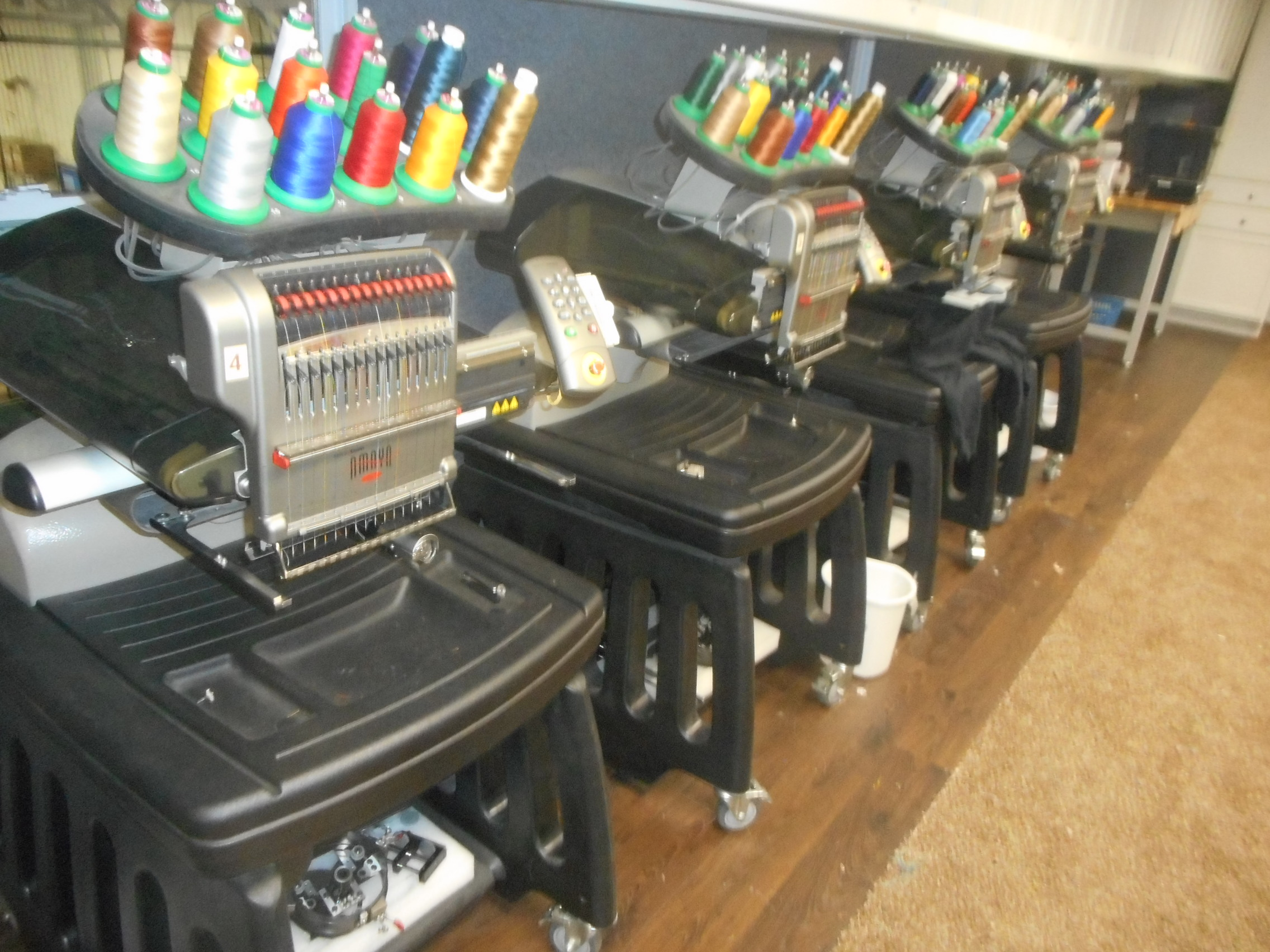 used amaya embroidery machine