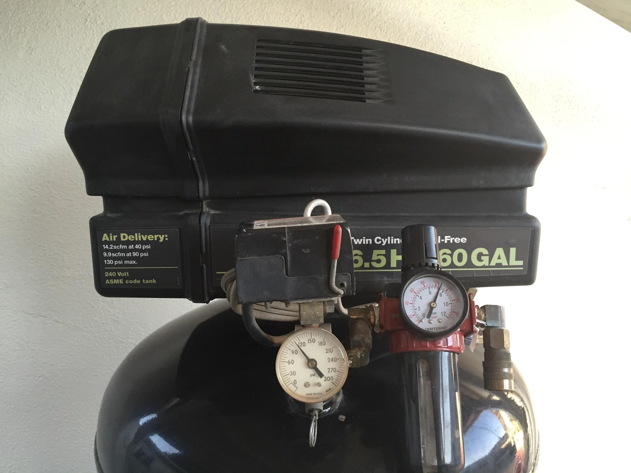 Air Compressor Oil Free 6 5 Hp 60 Gal