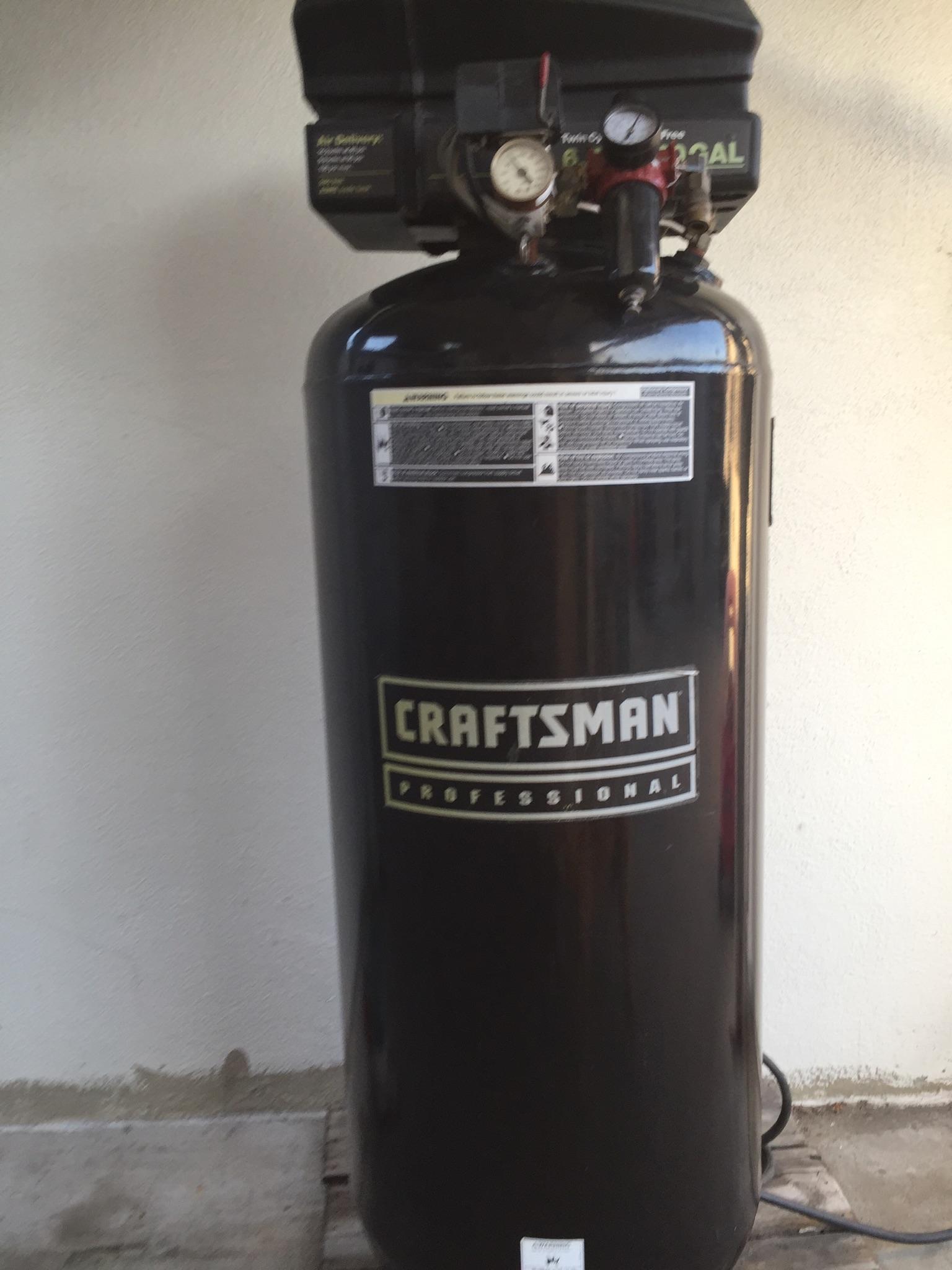 Air Compressor Oil Free 6 5 Hp 60 Gal