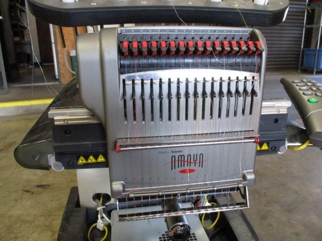 melco saurer amaya xt embroidery machine