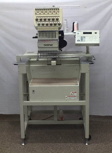 Single Head 12 Needle Brother Embroidery Machine Be 1201b Ac