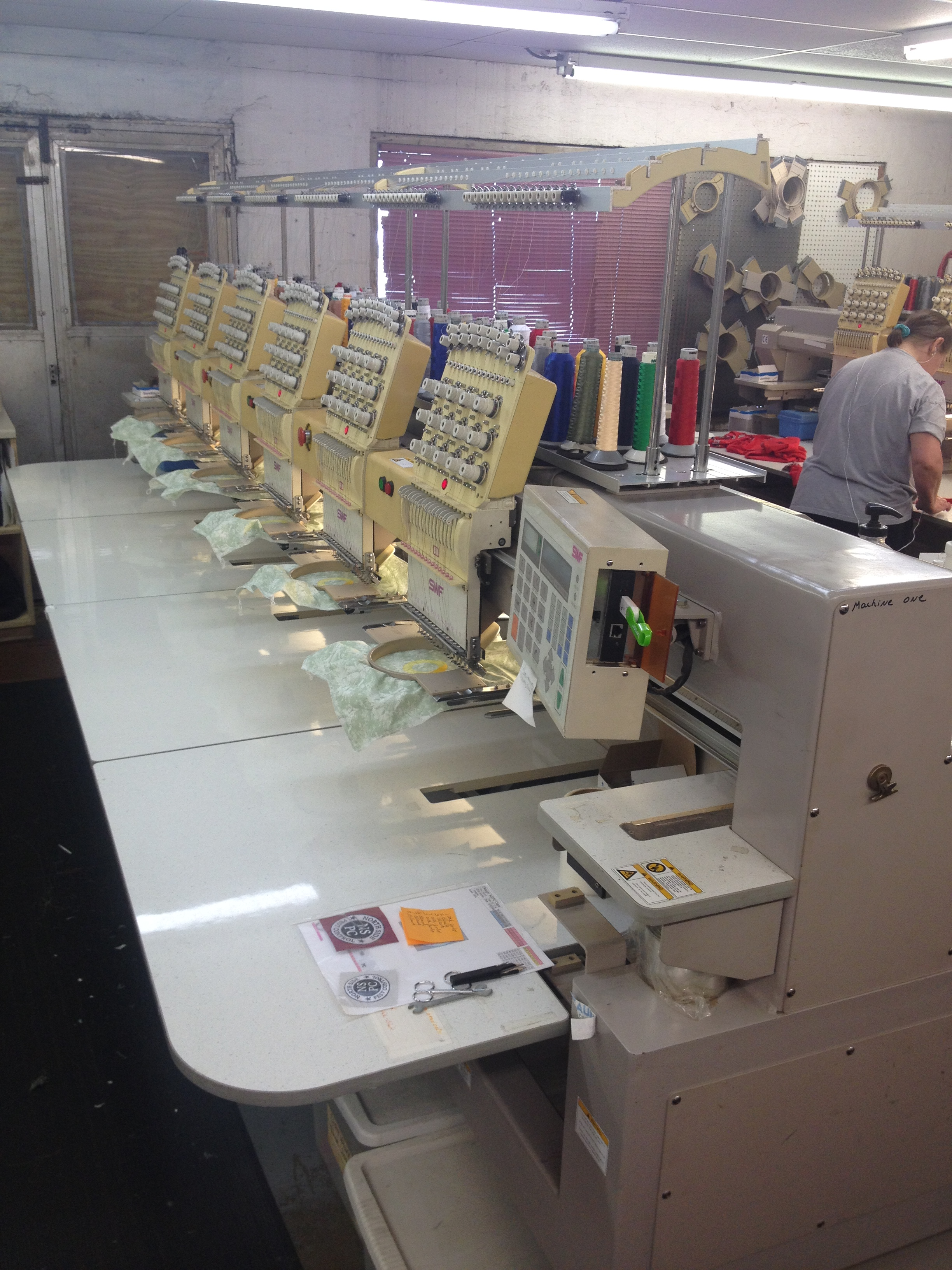 Used Swf 6 Head Automatic Embroidery Machine