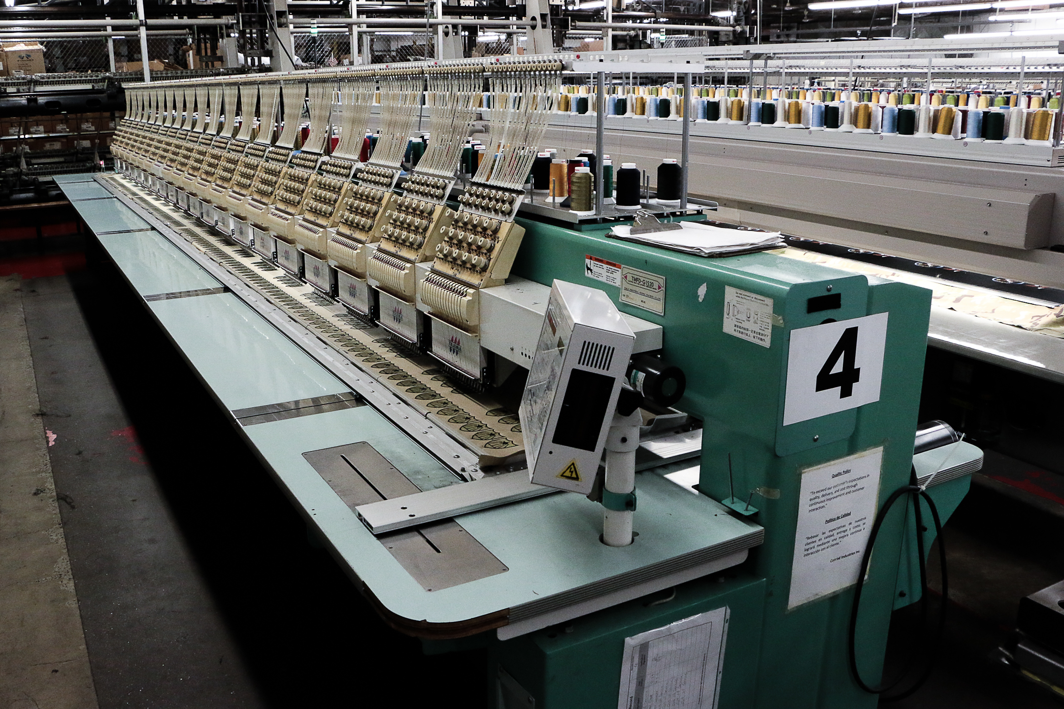 Used Embroidery Machines For Sale >> 15 color 20 Head - Tajima TFMD-G1520