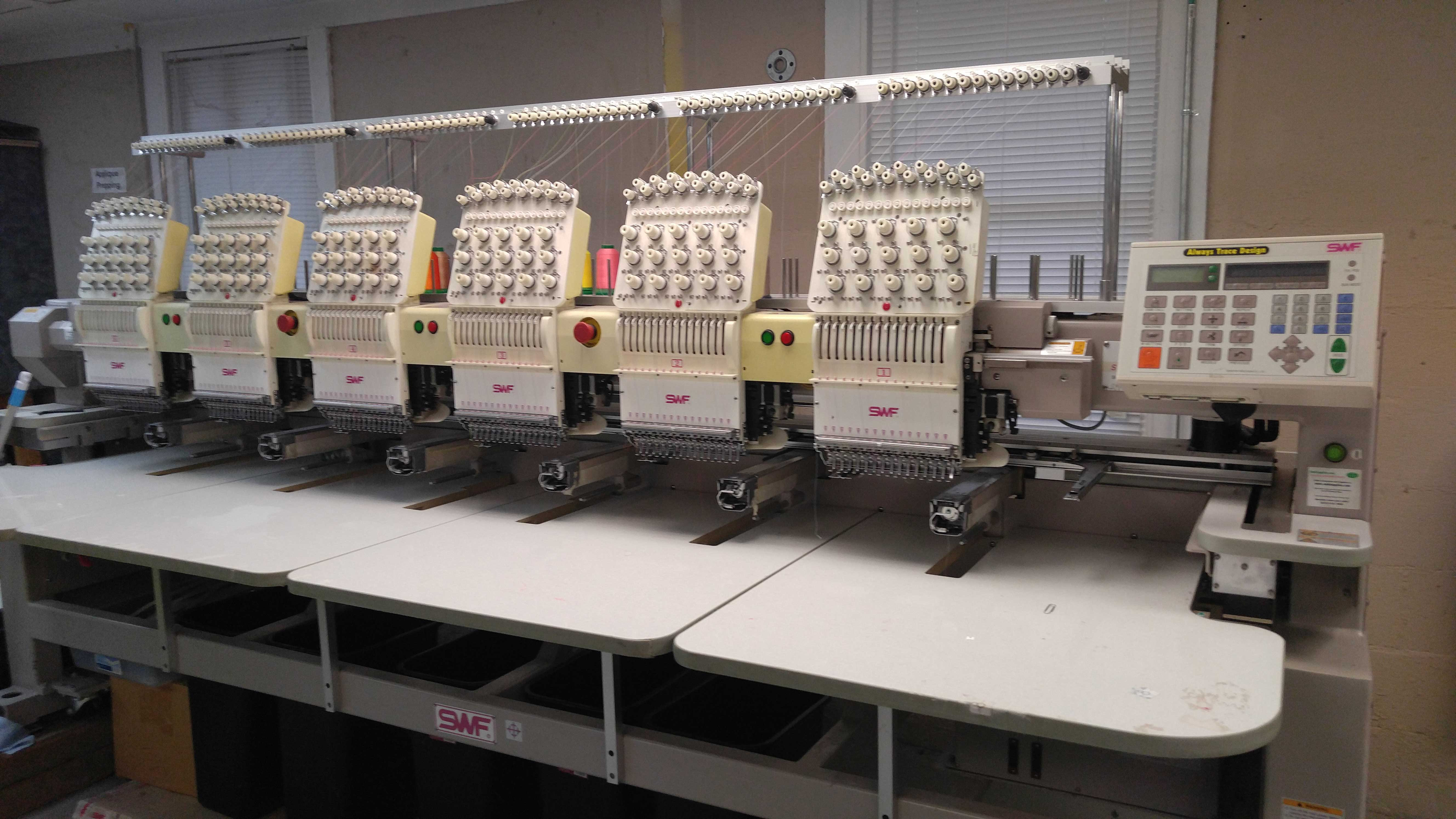 swf 6 needle embroidery machine