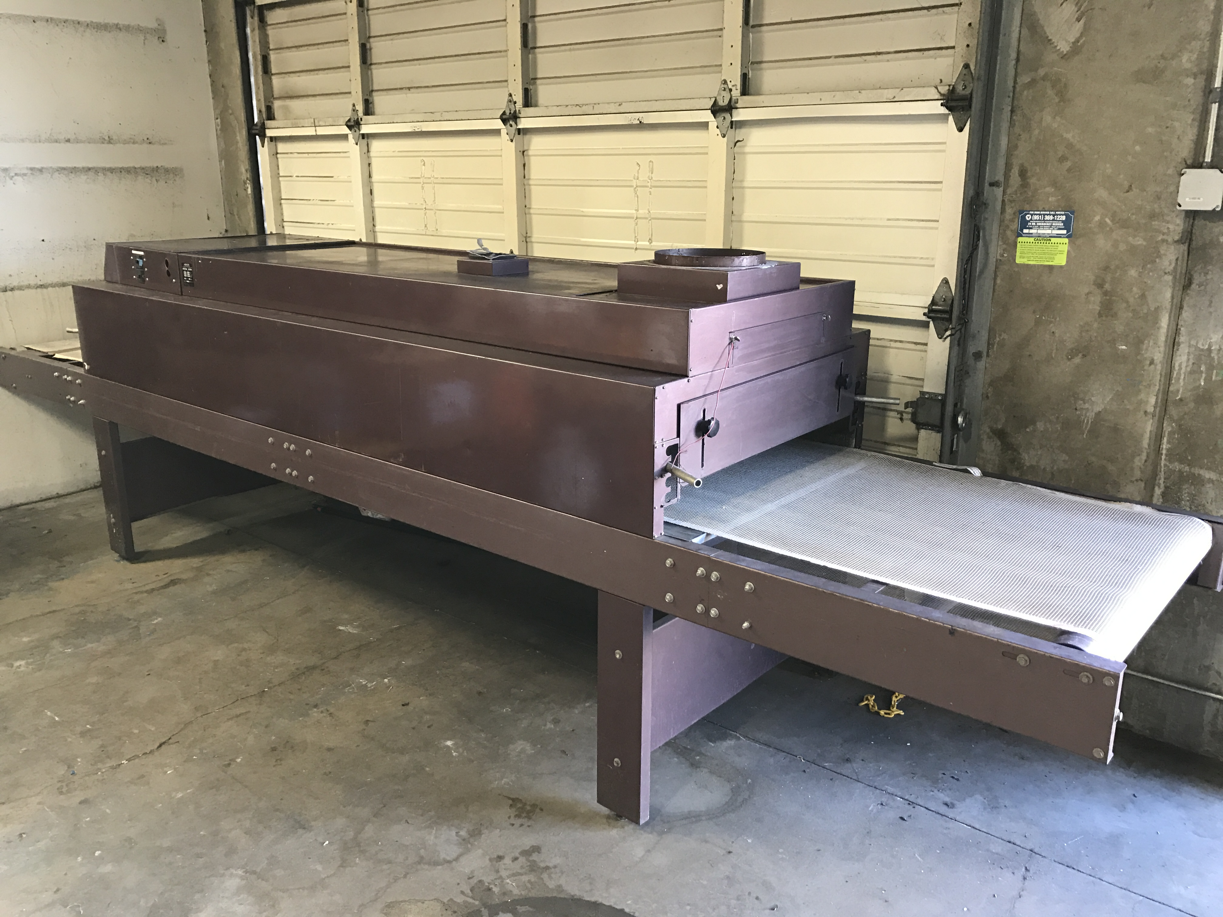 used harco ultracure conveyor dryer for sale contact rick 909 605