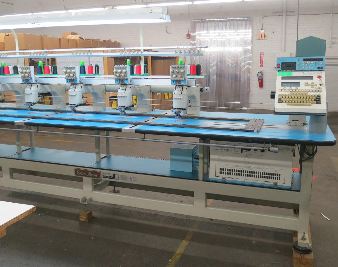 barudan 6 head embroidery machine