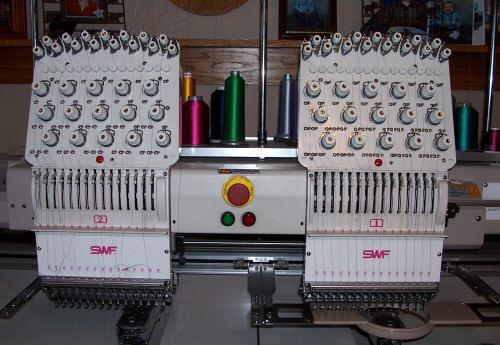 swf commercial embroidery machine