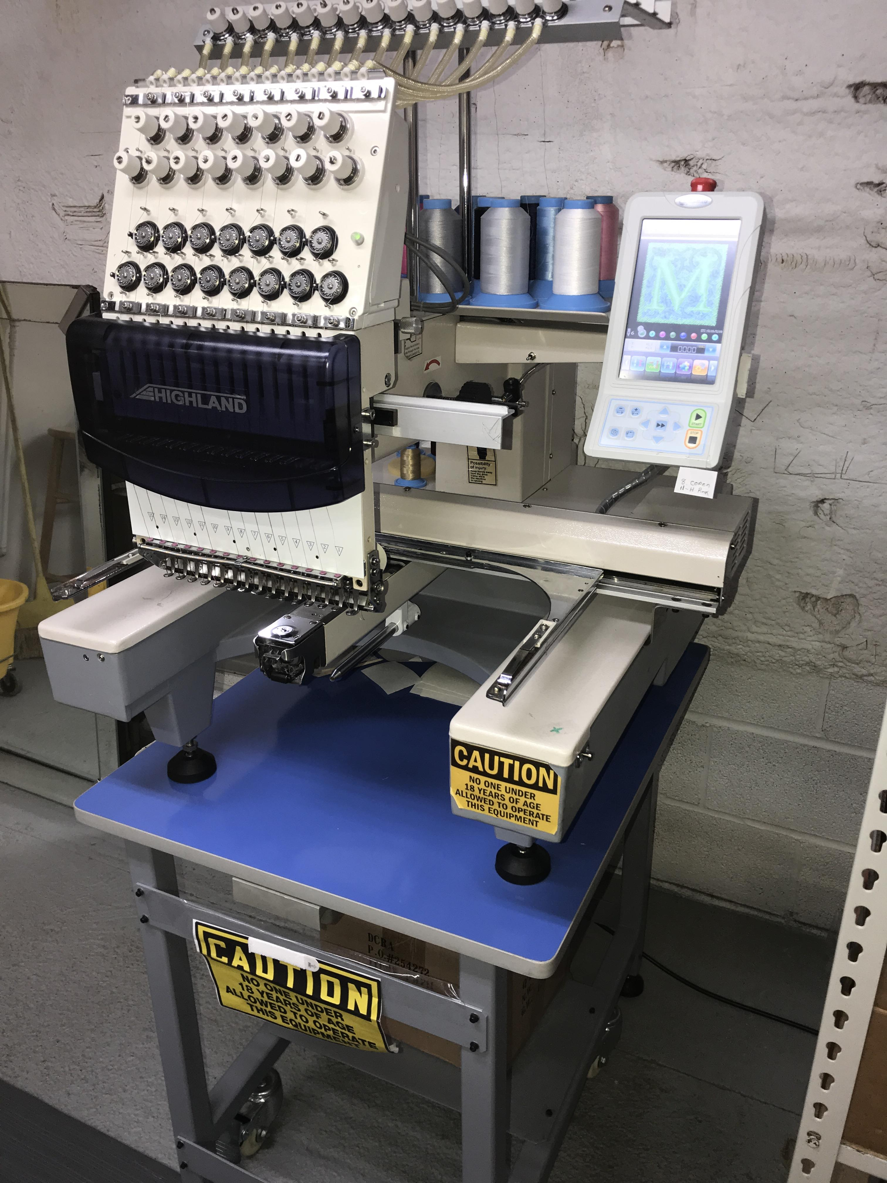 Used Embroidery Machines >> Highland Used Single Head Embroidery Machine For Sale