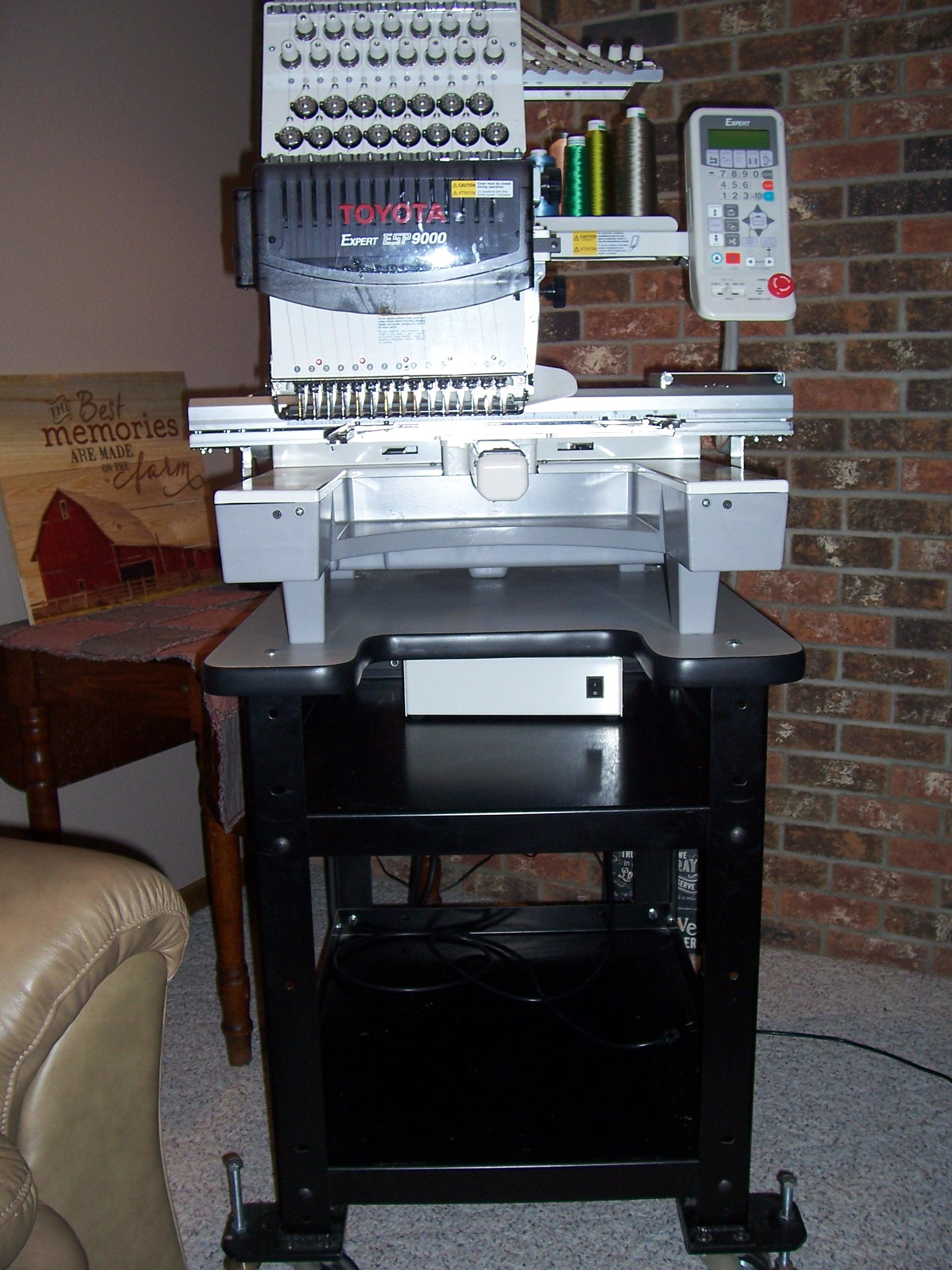 New toyota 850 Embroidery Machine