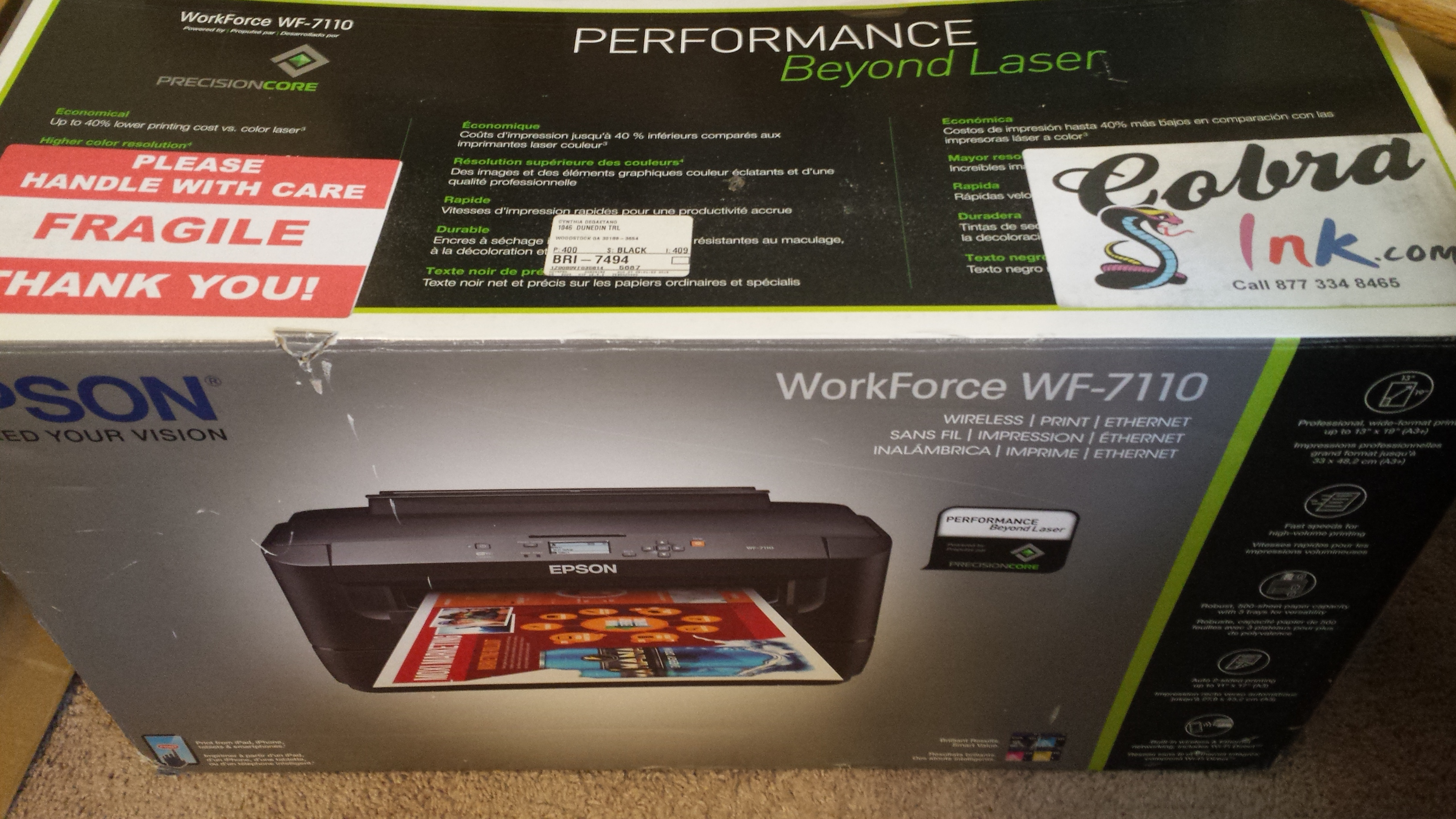 Epson Workforce with CISS Kit
