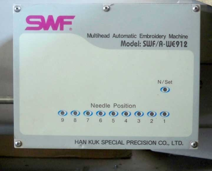 swf embroidery machine repair