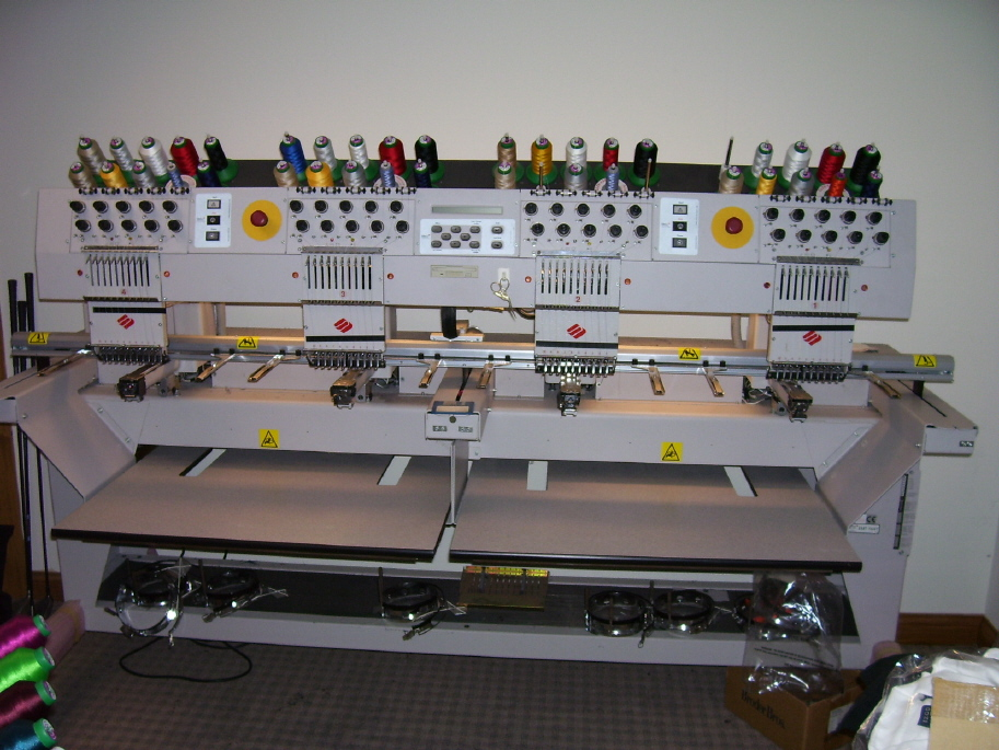 Used Embroidery Machines For Sale >> Melco EMT-10/4T 4 Head, 10 Needle