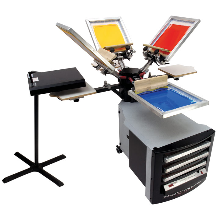 Screenprinter, pad printer and sublimation equipment and